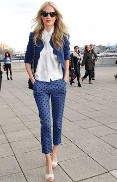 Poppy Delevigne in patterned pants!