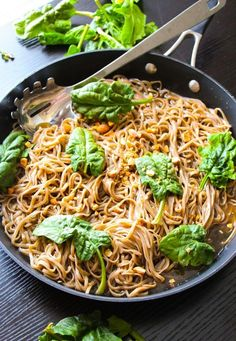 20-Minute Sticky Basil Thai Noodles. - Layers of Happiness