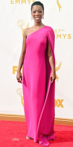 Emmys 2015 Red Carpet Arrivals - Samira Wiley  - from InStyle.com