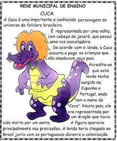 Blog Educacional (Profª. Jezaine): Folclore (atividades para imprimir) Portuguese Lessons, Kids Education, Halloween Diy, Professor, Smurfs, Disney Characters, Fictional Characters, How To Plan, Tall Tales Activities