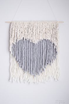 DIY no weave wall hanging, a Valentine's Day heart! Via @Jesica | Classic In Gray | Lifestyle & DIY Blogger