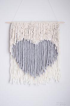 DIY: no weave wall hanging