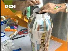 ▶ Jarrón realizado con técnica de cartapesta (1º parte) - YouTube