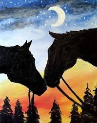 Image result for paint nite firefly me to the moon