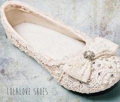 BALLERINAS y ZAPATILLAS PARA NOVIAS de Lolalove Shoes sobre Zapatos de Novias en Buenos Aires