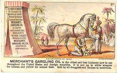 Merchant's Gargling Oil Victorian Trade Cards