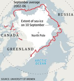 Nome, AK - As of 2011, Arctic sea ice has melted to a level not recorded since satellite observations started in 1972 – and almost certainly not experienced for at least 8,000 years, say polar scientists.  Daily satellite sea-ice maps released by Bremen university physicists show that with a week's more melt expected this year, the floating ice in the Arctic covered an area of 4.24 million square kilometres on 8 September. The previous one-day minimum was 4.27m sq km on 17 September 2007…
