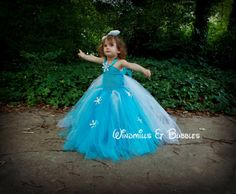 Elsa Frozen inspired tutu dress with by KatsGurlGear Frozen Tutu Dress, Elsa Dress, Tulle Dress, Tutu Dresses, Dresses For Sale, Girls Dresses, Dress Sale, Elsa Outfit, Frozen Theme