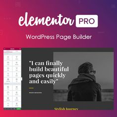 Elementor Pro Page Builder WordPress Plugin Test drive the biggest and best Web Platform in the world for 7 days FREE