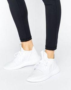 adidas Originals White Tubular Defiant Sneakers
