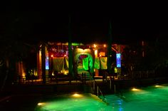 """""""Glow-in-the-dark"""" deco features for the scary party """"Maleficent theme""""."""