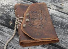 Wedding guest book Custom rustic leather Medieval por crearting