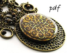 Polymer clay tutorial, Fantastic Filigree pendant, earrings, and bracelet, pdf jewelry tutorial, instant download