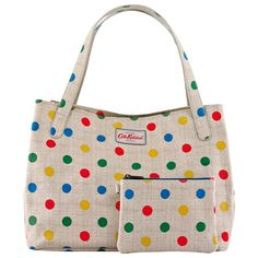 Button Spot Medium Grab Handle Tote | View All | CathKidston