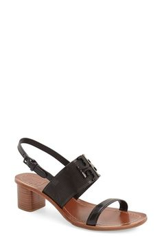 Tory Burch 'Lowell' Linen & Leather Sandal (Women) available at #Nordstrom