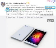New leaks suggest Xiaomi Mi Note 2 release date