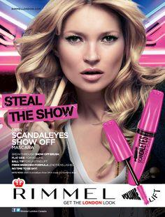 Mascara Scandal Eyes Show Off - Rimmel London Makeup Advertisement, Rimmel Makeup, Beauty Myth, Kate Moss Style, Georgia May Jagger, Perfume Ad, London Look, Rimmel London, Beauty Shoot