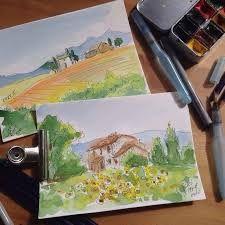 Картинки по запросу пейзаж в скетче