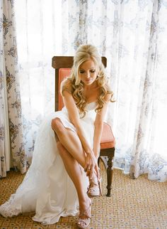 pretty bridal hair half up
