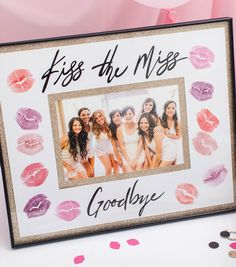 How To Make A Kiss The Miss Goodbye Frame