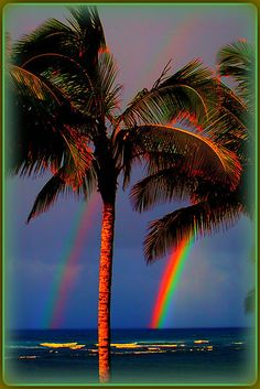 Double Rainbow in Hawaii