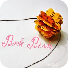 Book Beads #howto #tutorial