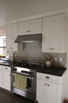 Gray Tile Backsplash Design Ideas, Pictures, Remodel, and Decor - page 2