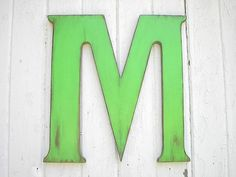 "Letter M Wall Decor kids wall art nursery monogram 12"" w letters wooden initials wall"