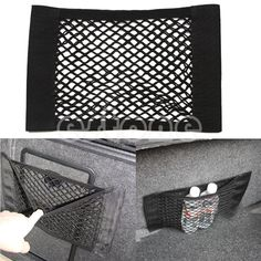 1PC Car Back Rear Trunk Seat Elastic String Net Mesh Storage Bag Pocket Cage >>> Want additional info? Click on the image.