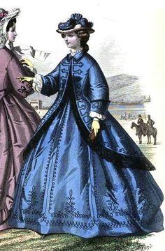 1863.  Le Moniteur de la mode.  Looks like dress from Decataur Road attack scene.