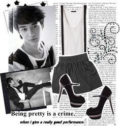 """15. Choi Minho"" by superstar-k ❤ liked on Polyvore"