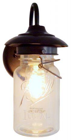 exterior vintage mason jar sconce light, oil rubbed bronze  residential outdoor lighting fixtures Latest residential outdoor lighting fixtures