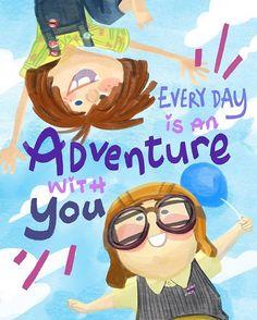 Adventure wherever together forever. ❤️ #pixar