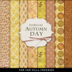 New Freebies Kit of Paper - Autumn Day