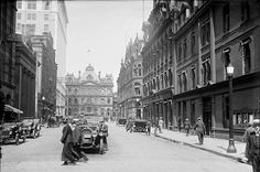 Looking north up Toronto Street from Court Street towards the Post Office Building on Adelaide in Again but a little further bac. Adelaide Street, Toronto Street, Lombard Street, Vintage Photography, Old Pictures, Past, Street View, Urban, Mansions