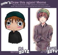 Draw This Again: May 2012 vs. Feb. 2014 by Chewsome.deviantart.com on @deviantART