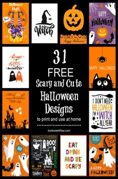 Looking for free decorations for your Halloween party? Or do you just want to add a few cute and scary prints to the Halloween decorations in your home? Here are 31 FREE Halloween printables you will love including two word scrambles – one for adults and one for children – that you can print and use at your next Halloween gathering. Halloween Words, Scary Halloween, Halloween Crafts, Holiday Crafts, Happy Halloween, Halloween Decorations, Halloween Party, Halloween Ideas, Halloween Designs