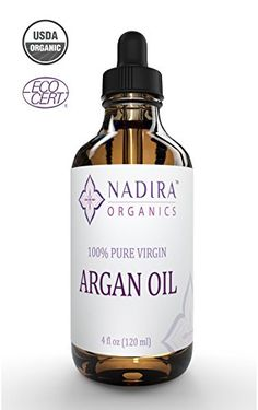 100% Pure Virgin Cold-Pressed Argan Oil From Morocco. Eco-Certified & USDA Organic, Nadira's Superior Quality Adds Vitality to the Skin, Face, Hair, and Nails.
