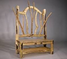 Image of: diy outdoor log furniture rocking chair making bedroom furniture beautifully idea rustic furniture Rustic Log Furniture, Twig Furniture, Driftwood Furniture, Cabin Furniture, Cheap Furniture, Furniture Design, Furniture Plans, Bedroom Furniture, Driftwood Art