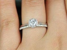 Solitário Com Diamantes Em Ouro Branco 18k!! Linda Jóia! - R$ 1.531,23