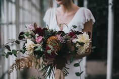 Autumn Flowers by Number 27 Floral Design - Stylish Autumnal Wedding Shoot From Top UK Wedding Suppliers The Wedding Collective | Images by Matt Horan Photography