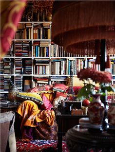 A delightful, eclectic book room