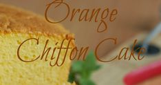 I made this Orange Chiffon Cake two weeks ago. I decided to bake it after I saw Sonia posted hers. Sonia's chiffon cake looks so beautiful....