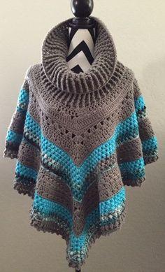 Vintage Poncho Crochet Pattern:                                                                                                                                                                                 Más
