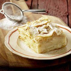 Gâteau invisible aux pommes et à la vanille