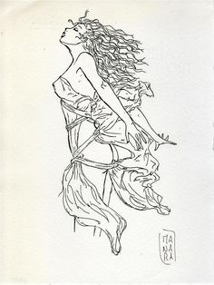 MILO MANARA - Pen and ink drawing on paper