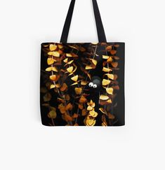 Garden Spider, My Arts, Reusable Tote Bags, Art Prints, Dark, Printed, Awesome, Gifts, Stuff To Buy