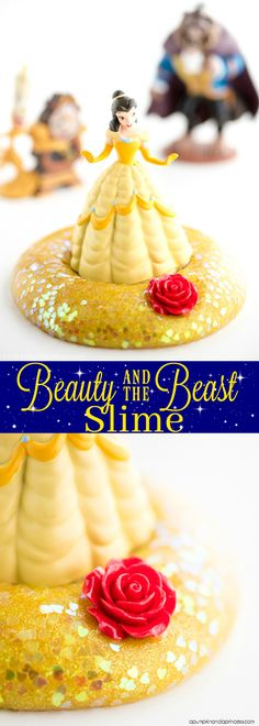 Beauty and the Beast Party Favors - How to make glitter slime
