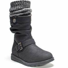 super popular 62b0c de7c3 MUK LUKS ® Women s Sky Boot - Black Knit Shoes, Slouchy Boots, Boots Online