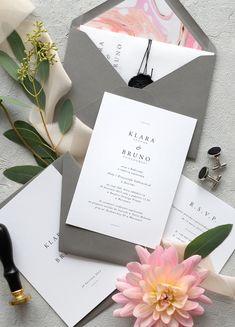 Wedding Cards, Wedding Invitations, Minimal Wedding, Modern City, Weeding, Dream Life, Knot, Wedding Inspiration, Place Card Holders